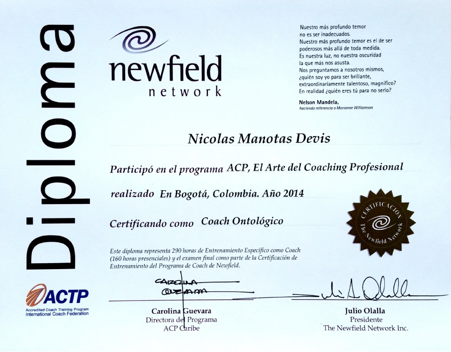 Certificacion Newfield